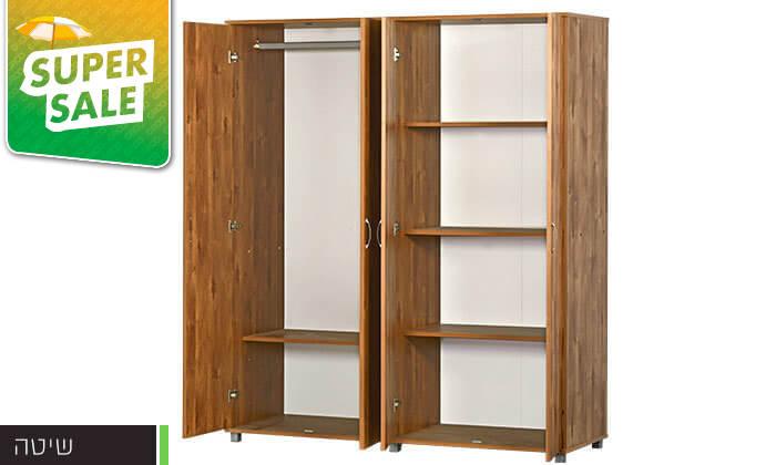 6 רהיטי יראון: ארון בגדים 4 דלתות