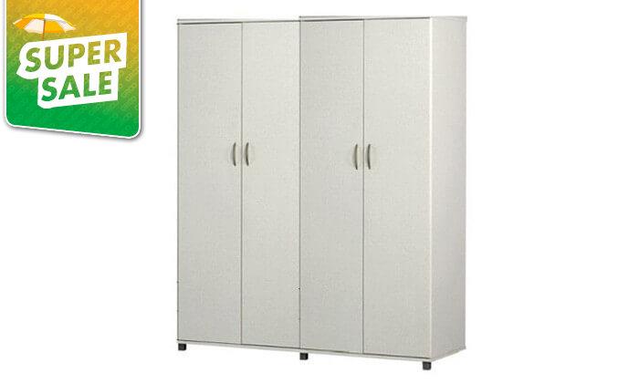 8 רהיטי יראון: ארון בגדים 4 דלתות