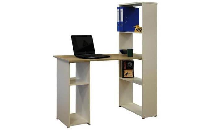 2 רהיטי יראון: שולחן כתיבה עם ספריה