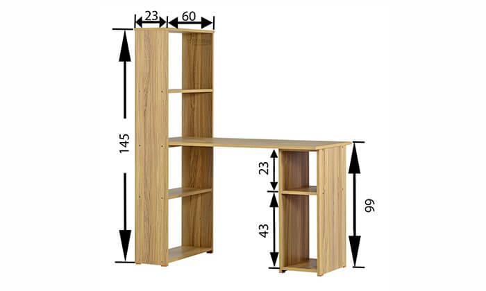 5 רהיטי יראון: שולחן כתיבה עם ספריה