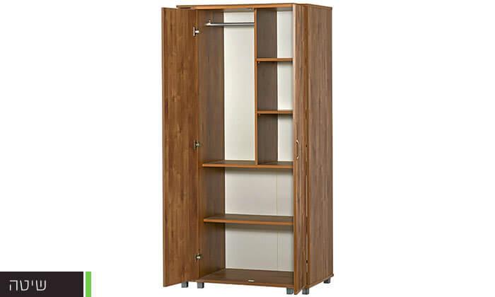 3 רהיטי יראון: ארון בגדים 2 דלתות על רגליים