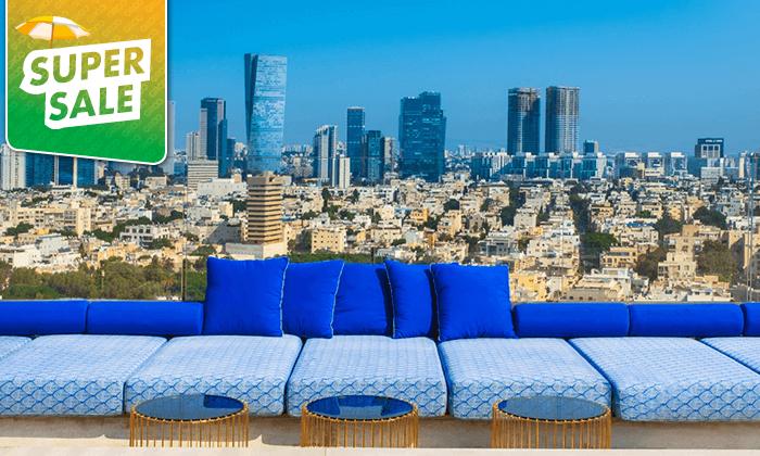 2 לילה במלון הבוטיק לייטהאוס LIGHTHOUSEHOTEL תל אביב