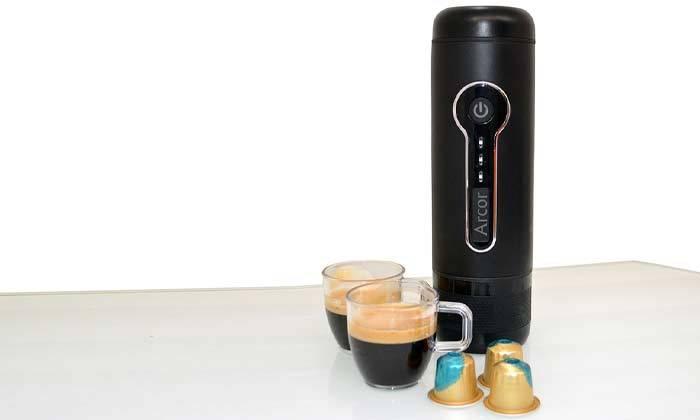 2 מכונת קפה ניידת ARCOR עם 10 קפסולות