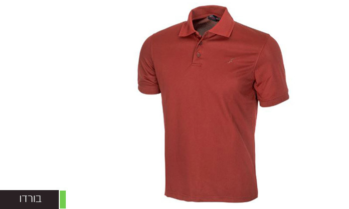 8 חולצת פולו לגברים OUTDOOR דגם POLO COOLDRY