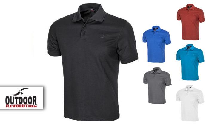 2 חולצת פולו לגברים OUTDOOR דגם POLO COOLDRY