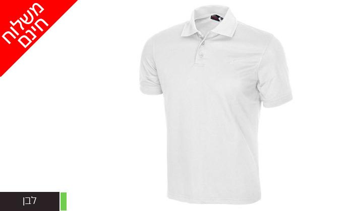 3 חולצת פולו לגברים OUTDOOR דגם POLO COOLDRY - משלוח חינם