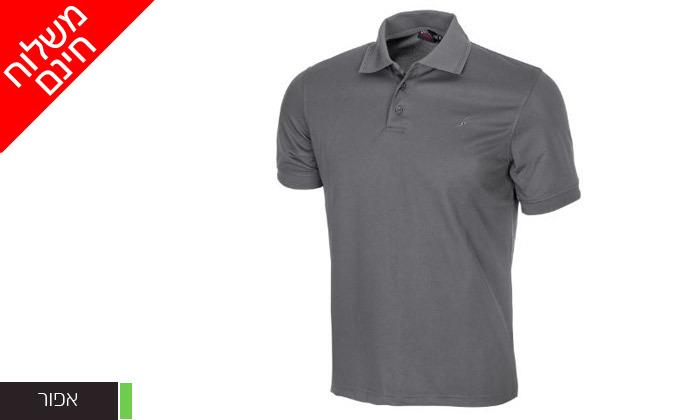 4 חולצת פולו לגברים OUTDOOR דגם POLO COOLDRY - משלוח חינם
