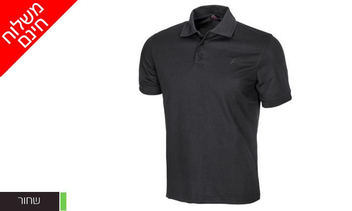 5 חולצת פולו לגברים OUTDOOR דגם POLO COOLDRY - משלוח חינם