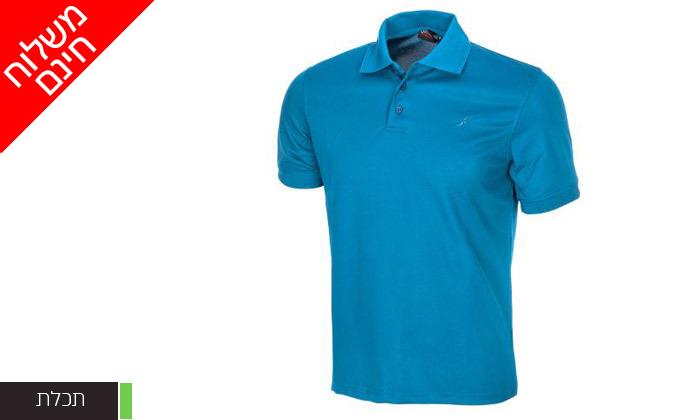 6 חולצת פולו לגברים OUTDOOR דגם POLO COOLDRY - משלוח חינם