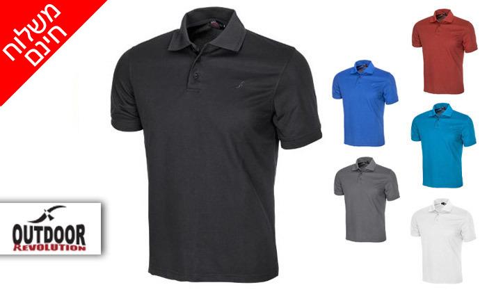 2 חולצת פולו לגברים OUTDOOR דגם POLO COOLDRY - משלוח חינם