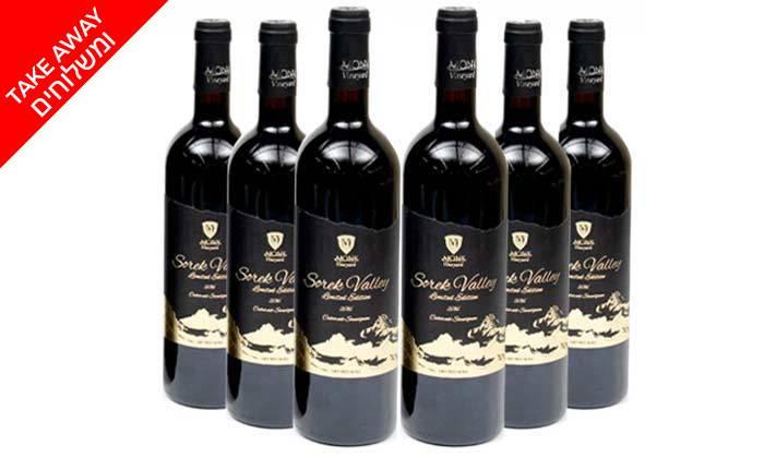 3 מארז יין אדום כשר למהדרין מיקב מוני - 6 בקבוקים במשלוח חינם מ'שר המשקאות'