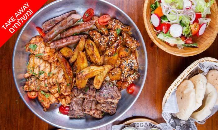 2 ארוחת בשרים לרביעייה ב-Take Away ממסעדת וילה מארה VILLA MARE, בת ים