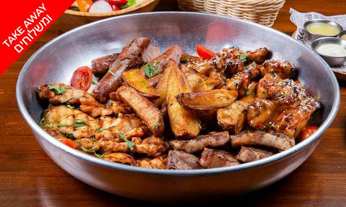 4 ארוחת בשרים לרביעייה ב-Take Away ממסעדת וילה מארה VILLA MARE, בת ים