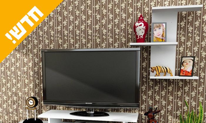 3 מזנון טלוויזיה עם מדף מתנה