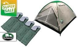 אוהל ל-6 אנשים ו-4 שקי שינה