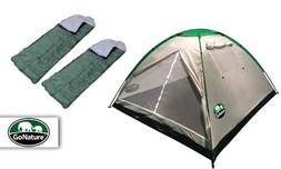 אוהל ל-4 אנשים וזוג שקי שינה