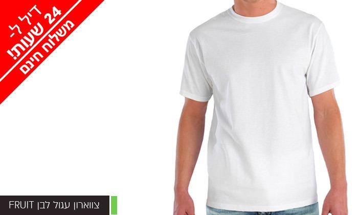 8 מארז 6 חולצות לגברים Fruit of the Loom או Hanes במבחר דגמים