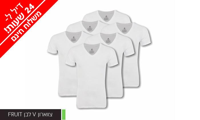 12 מארז 6 חולצות לגברים Fruit of the Loom או Hanes במבחר דגמים