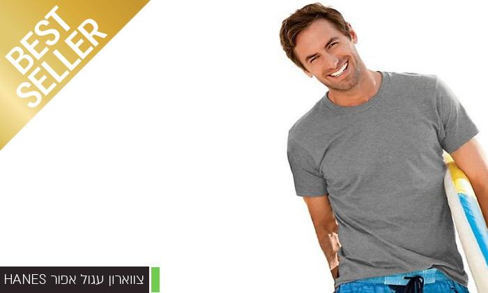 7 מארז 6 חולצות לגברים Fruit of the Loom או Hanes במבחר דגמים