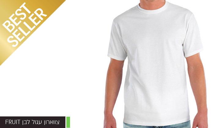 9 מארז 6 חולצות לגברים Fruit of the Loom או Hanes במבחר דגמים