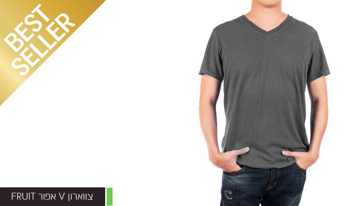 10 מארז 6 חולצות לגברים Fruit of the Loom או Hanes במבחר דגמים