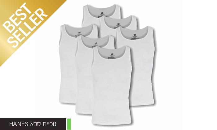 11 מארז 6 חולצות לגברים Fruit of the Loom או Hanes במבחר דגמים