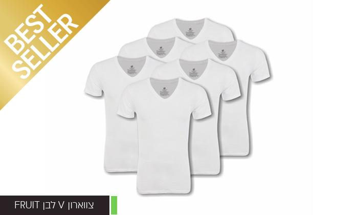 13 מארז 6 חולצות לגברים Fruit of the Loom או Hanes במבחר דגמים