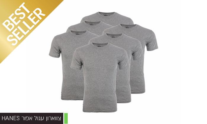 15 מארז 6 חולצות לגברים Fruit of the Loom או Hanes במבחר דגמים