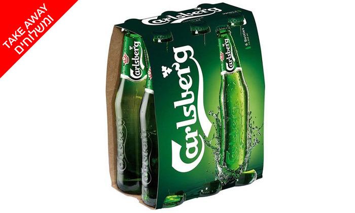 3 מארז 12 בקבוקי קרלסברג ו-12 בקבוקי קורנה ב-Take Away משר המשקאות