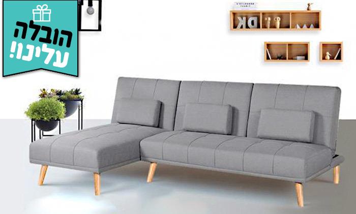 2 מערכת ישיבה פינתית נפתחת דגם מוניקה במבחר צבעים - משלוח חינם