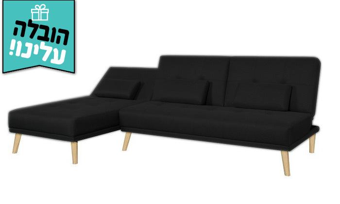 5 מערכת ישיבה פינתית נפתחת דגם מוניקה במבחר צבעים - משלוח חינם