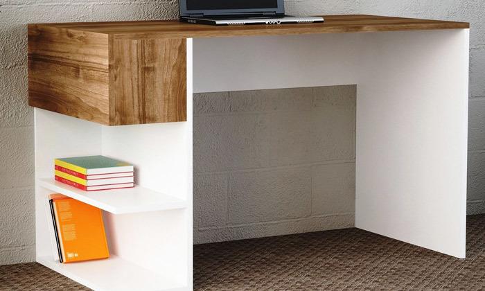 4 שולחן כתיבה עם מדפי צד, דגם שני