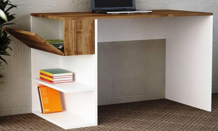 2 שולחן כתיבה עם מדפי צד, דגם שני