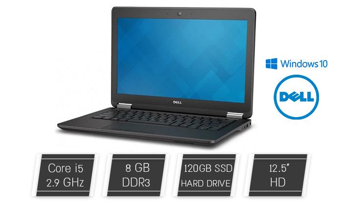 """2 מחשב נייד מחודש DELL, דגם E7250 מסדרת Latitude עם מסך """"12.5, זיכרון 8GB ומעבד i5 - משלוח חינם"""