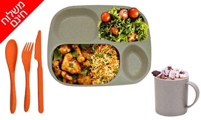 2 סט כלי אוכל אקולוגיים לשטח CAMP&GO - משלוח חינם