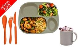 סט כלי אוכל אקולוגיים לשטח