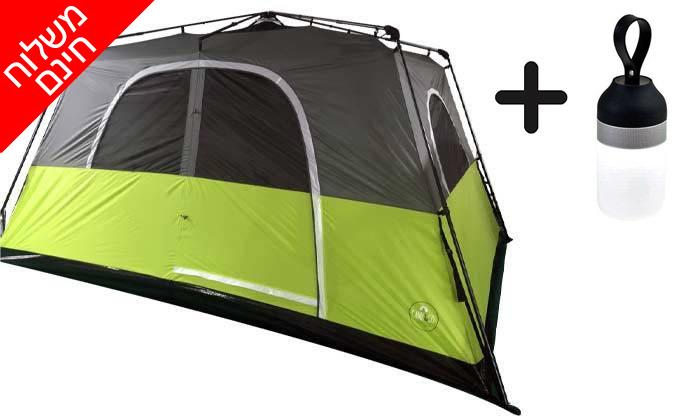 2 אוהל פתיחה מהירה ל-8 אנשים - משלוח חינם