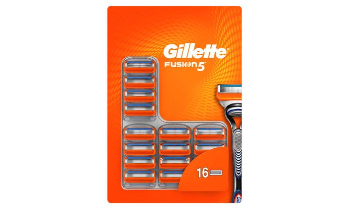 3 מארז 16 סכיני גילוח ג'ילט Gillette Fusion