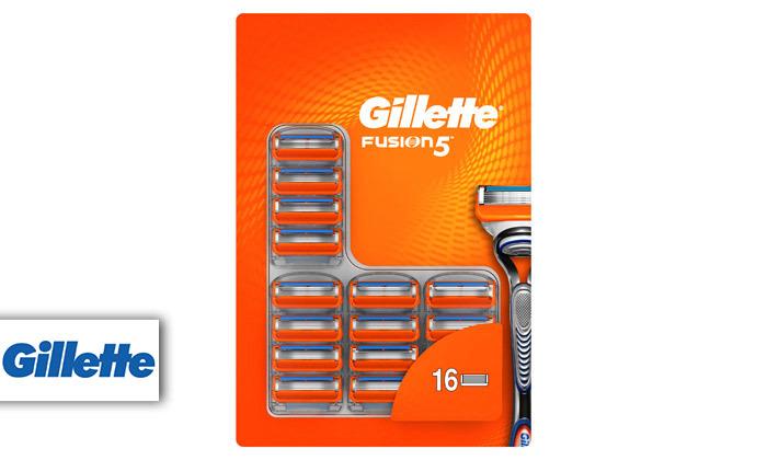 2 מארז 16 סכיני גילוח ג'ילט Gillette Fusion