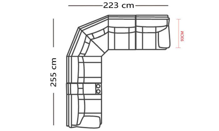 5 מערכת ישיבה פינתית עם ריקליינרים וברHOME DECOR