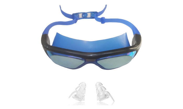3 מארז משקפות שחייה לנוער ולמבוגרים כולל אטמי אוזניים מתנה