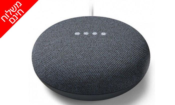3 רמקול חכם גוגל Google Nest Mini 2 - משלוח חינם