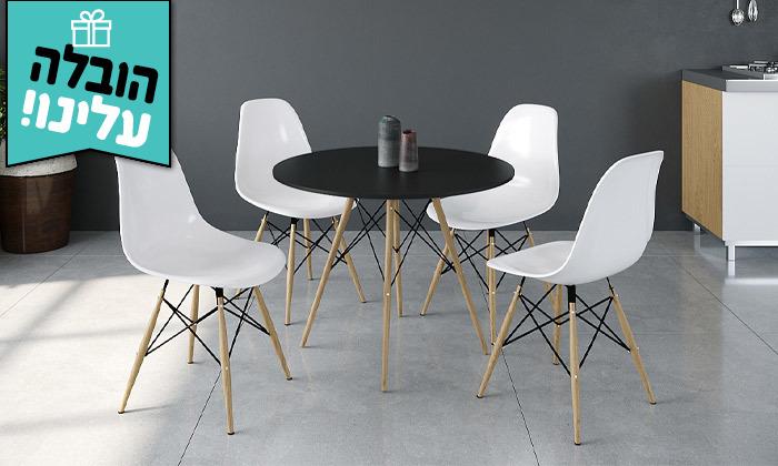 9 פינת אוכל עם 4 כיסאות במגוון גדלים וצבעים - משלוח חינם