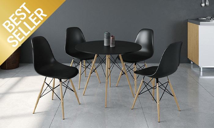 4 פינת אוכל עם 4 כיסאות, דגם סורנטו