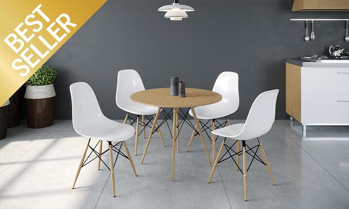 5 פינת אוכל עם 4 כיסאות, דגם סורנטו