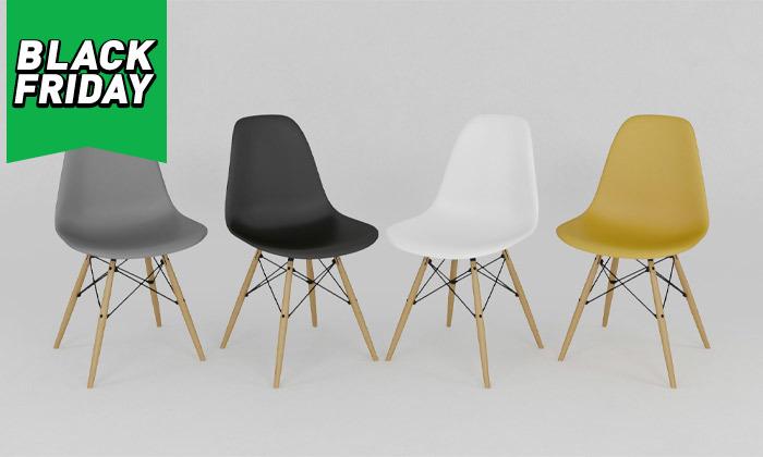 3 פינת אוכל עם 4 כיסאות, דגם סורנטו