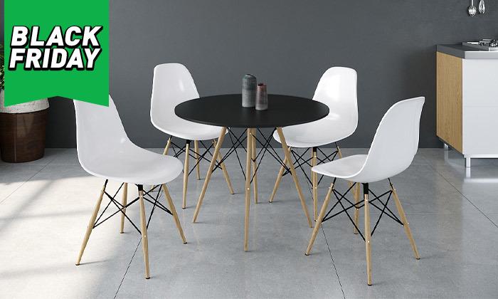 9 פינת אוכל עם 4 כיסאות, דגם סורנטו