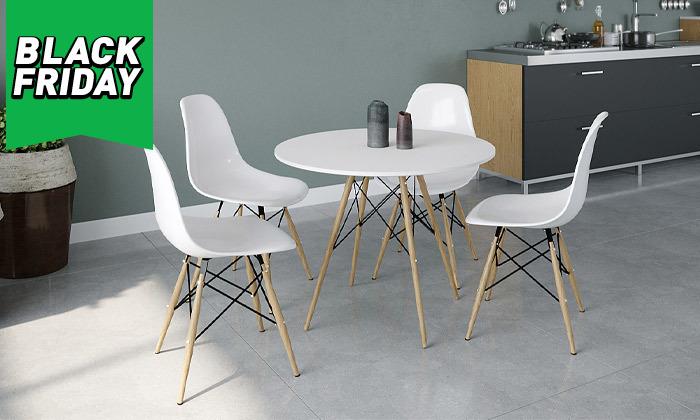 2 פינת אוכל עם 4 כיסאות, דגם סורנטו