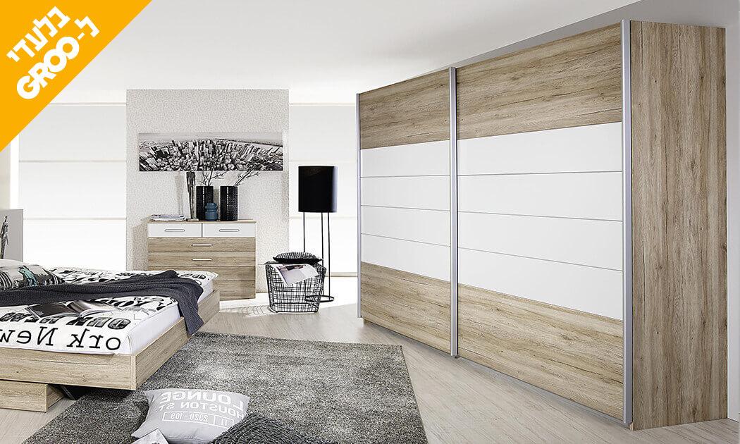 6 חדר שינה זוגי הכולל: מיטה זוגית, 2 שידות וארון הזזה