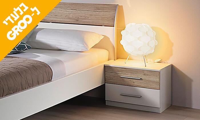 4 חדר שינה זוגי הכולל: מיטה זוגית, 2 שידות וארון הזזה